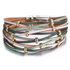 *2 for $25* Faux Leather bracelet